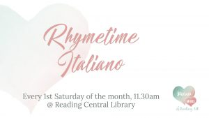 Rhymetime in Italiano @ Reading Central Library @ Reading Central Library